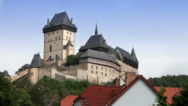 Středověký hrad Karlštejn. Čechy, Česká republika