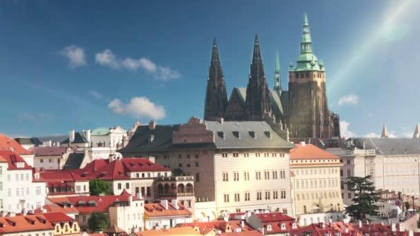 Pohled na staré střechy. Praha. Česká republika