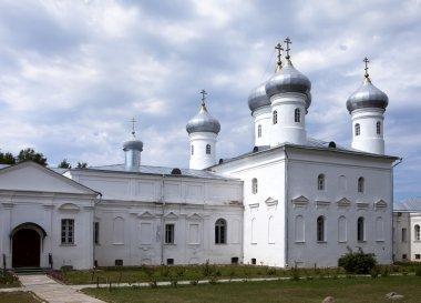 Saviour Cathedral, Russian orthodox Yuriev Monastery in Great Novgorod (Veliky Novgorod.) Russia