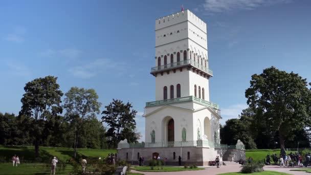 Bílá věž v Carskoje Selo v Aleksandrovsky park, Puškin, Rusko