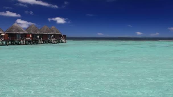 insel im ozean, overwater-villen