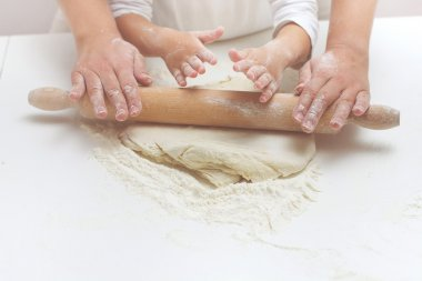Teamwork Kneading Dough