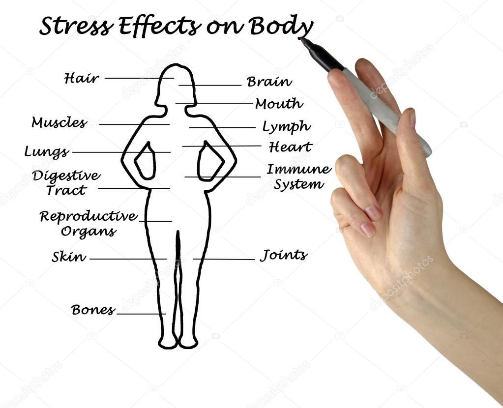 Stress Auswirkungen auf Körper — Stockfoto © vaeenma #105827464