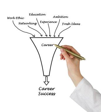 Diagram of career success