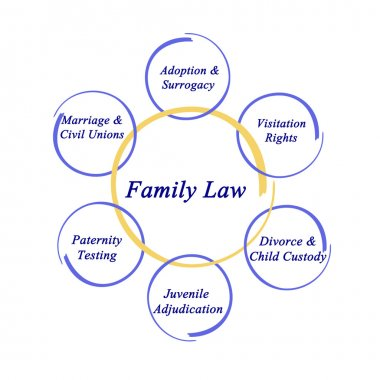 Diagram of  Components of family law