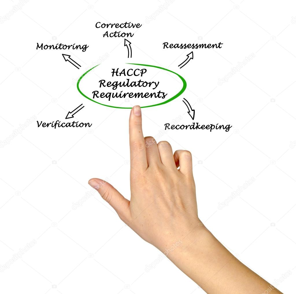 haccp 規制要件の図 ストック写真 vaeenma 96709412