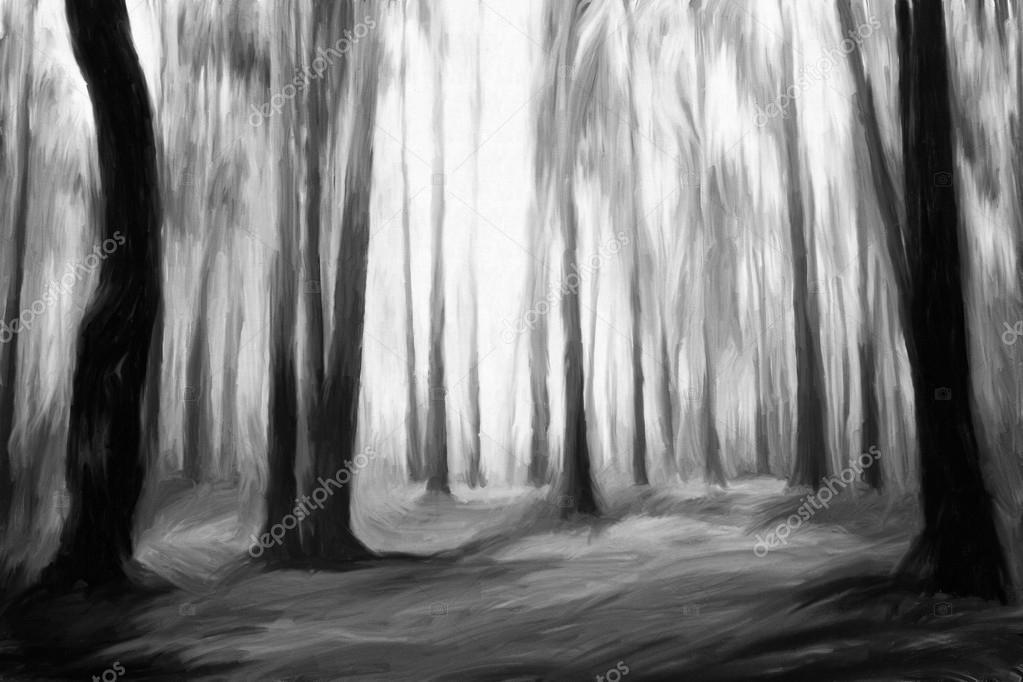 черно белые картины маслом фото