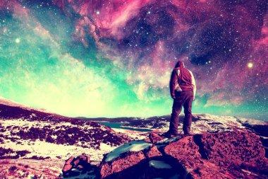 dreamer on the rocks
