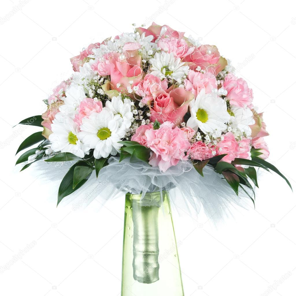 wedding bouquet on white background
