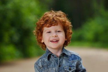 cute little emotional boy