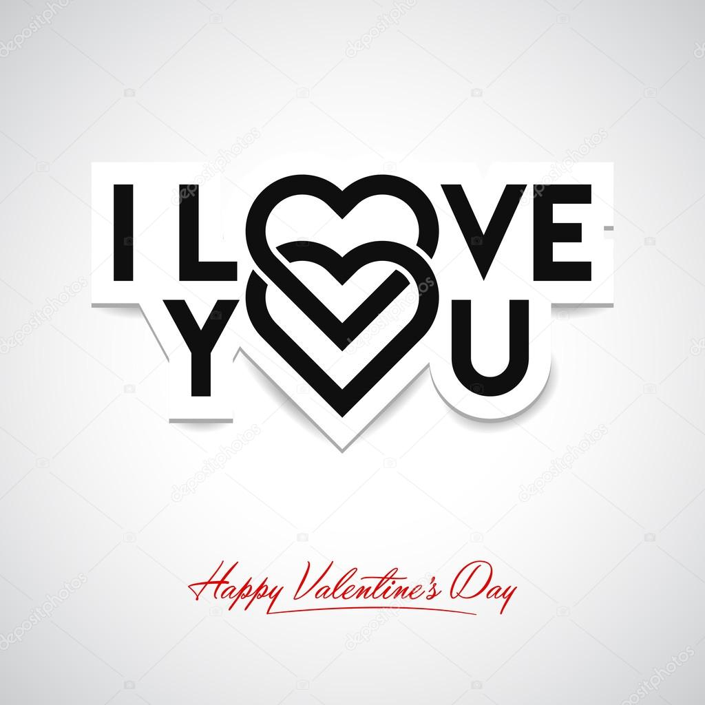I Love You. Valentine's card clipart vector