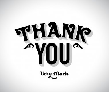 Thank You Very Much Type Design clip art vector