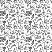 Fotografie Tattoo seamless pattern