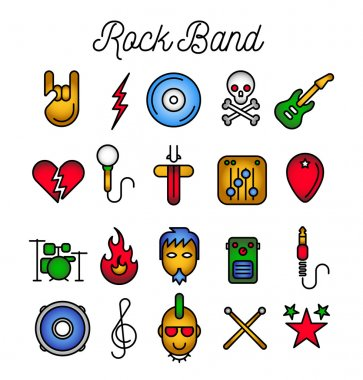 Rock Band Icon Set