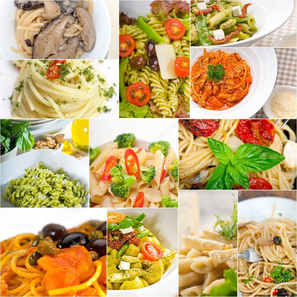 Raccolta di diversi tipi di collage di pasta italiana foto stock keko64 61448247 - Diversi tipi di pasta ...