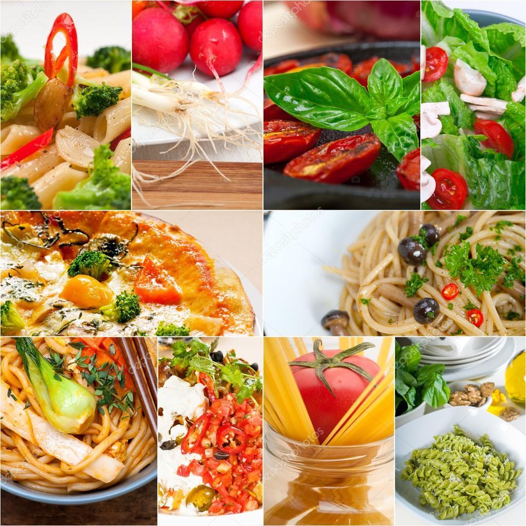 collage de comida saludable vegetariana vegana — Foto de stock ...