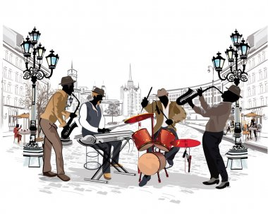 Musicians in the city.