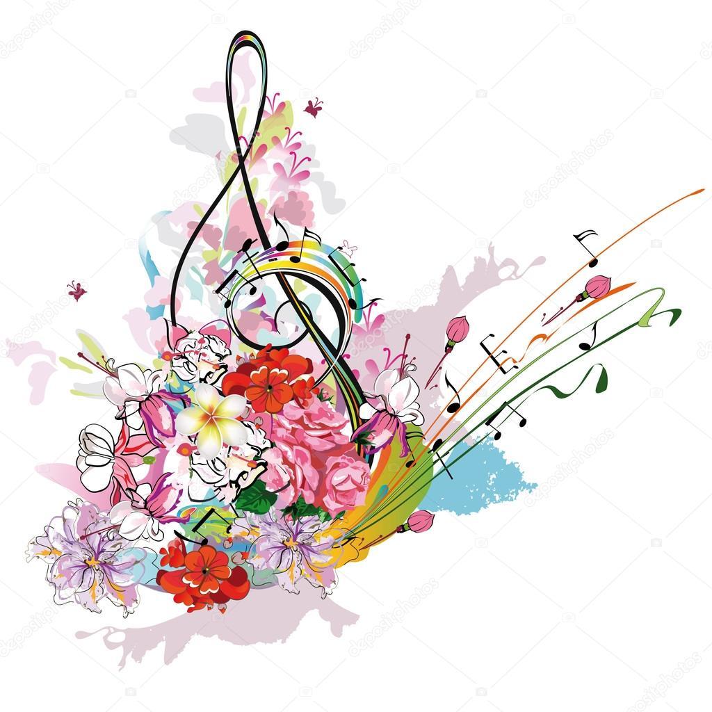 Été En Musique Avec Fleurs Et Papillons, Projections