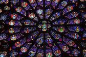 Parigi, Cattedrale di Notre Dame. Rosone del transetto meridionale. Patrimonio mondiale dellUNESCO. Parigi, Francia