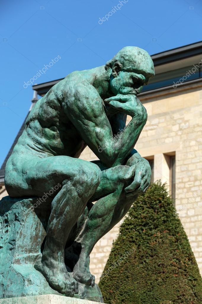 Geliefde De denker in Rodin Museum in Parijs — Stockfoto © wjarek #70798245 &TW47