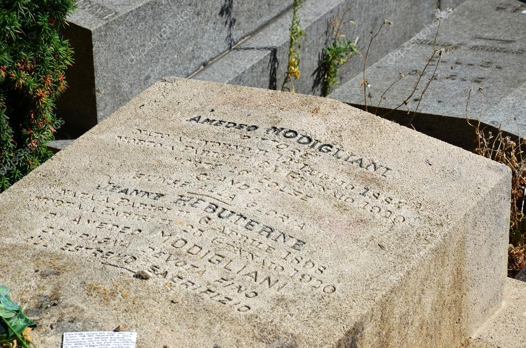 Jeanne Modigliani: Amedeo Modigliani And Jeanne Hebuterne Grave In Pere