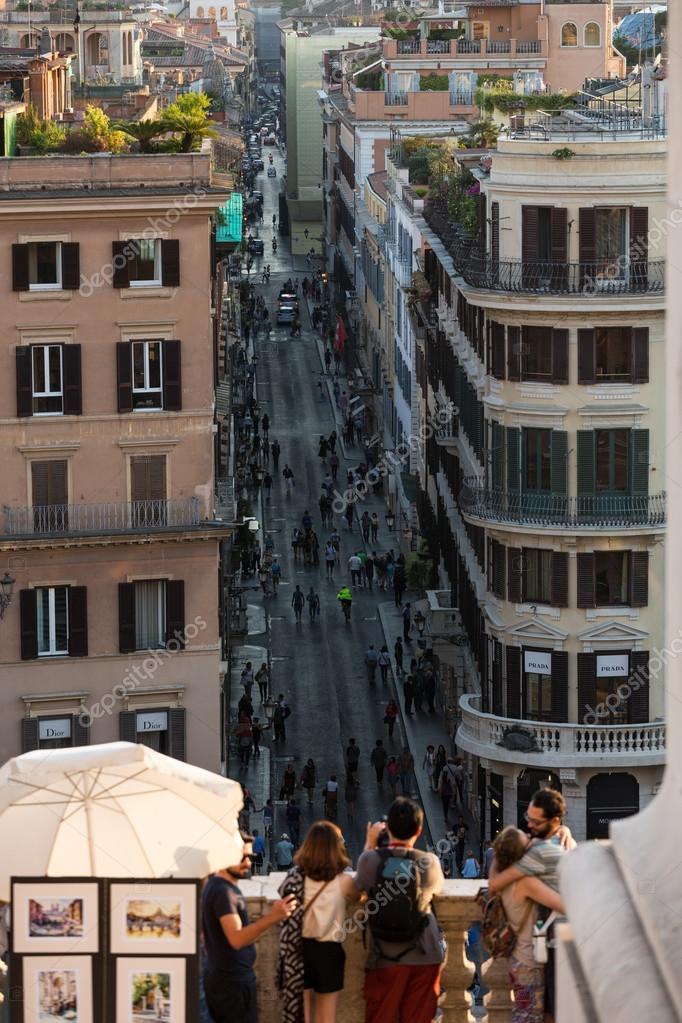 Spanische Treppe und Via Condotti in Rom  Diese Straße ist