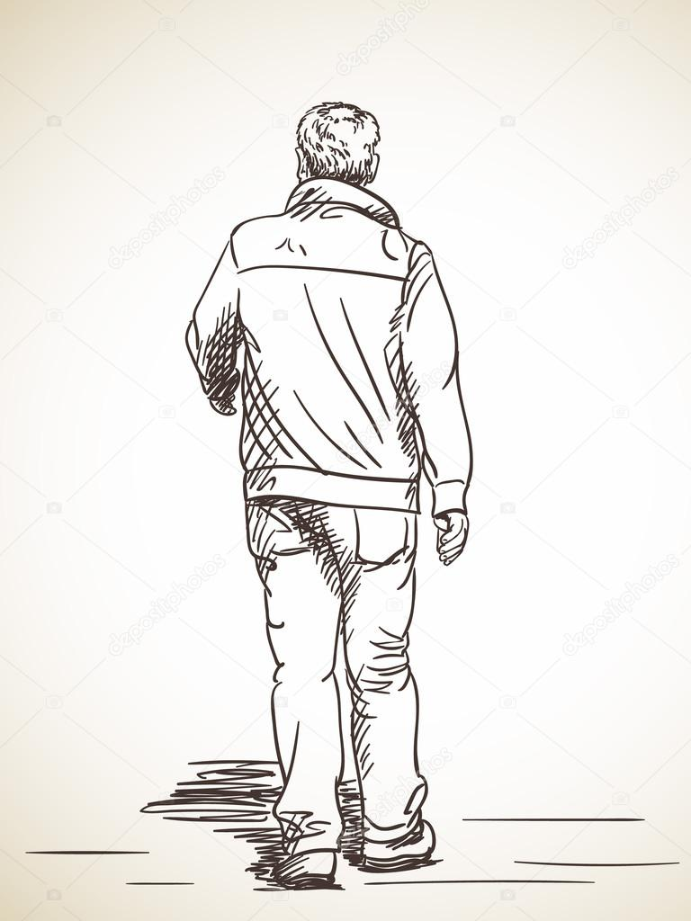 걷는 사람의 스케치 스톡 벡터 169 Olgatropinina 110751070