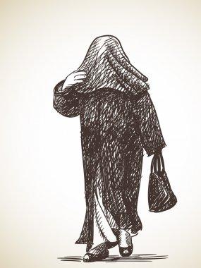 Sketch of muslim woman