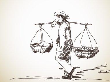 Man carrying a yoke