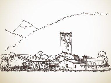 Svan tower in Georgia