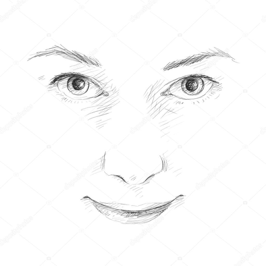 schizzi faccia