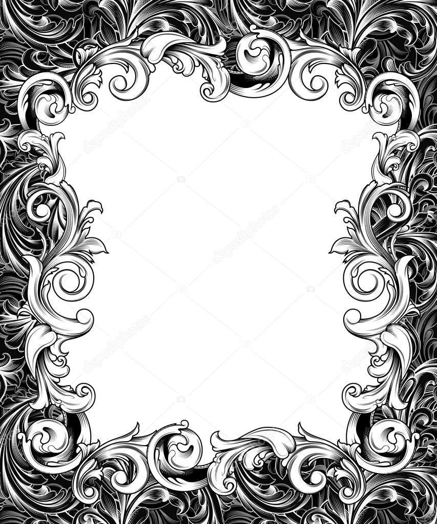 Marco barroco grabado recargado — Foto de stock © ponytail1414 #58017831