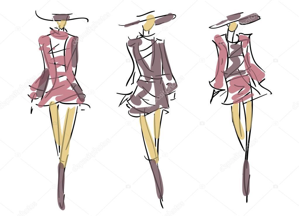Illustration Croquis Fashion Design