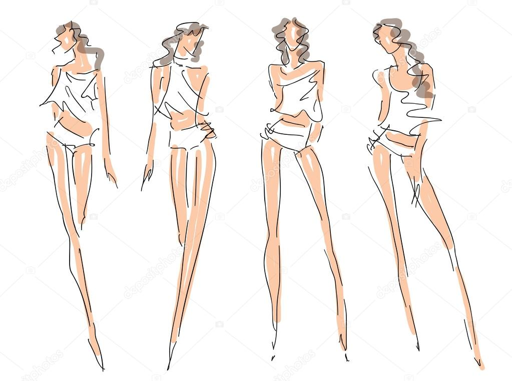 Fashion Design Body Outline Back