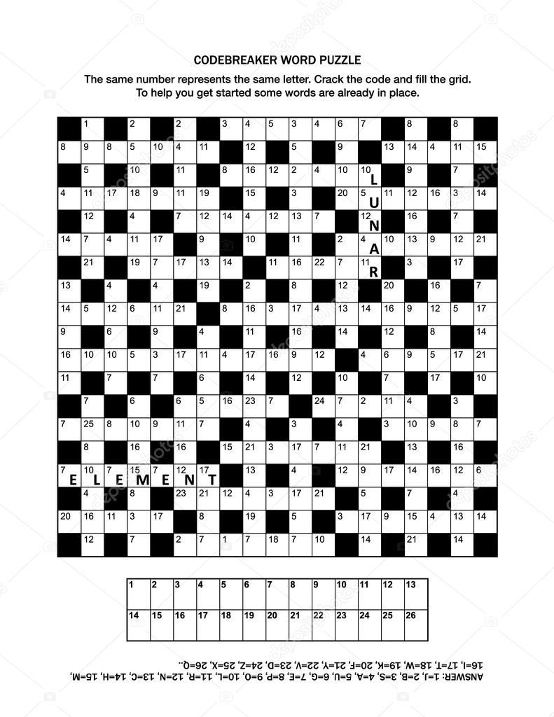 暗号解読単語ゲームとパズルのペ...