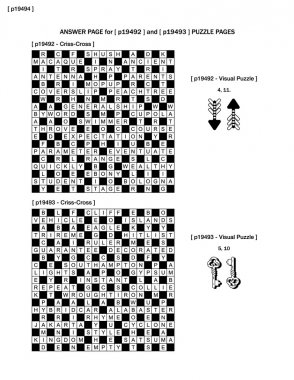 Answer page to previous two puzzle pages (p19492 and p19493)