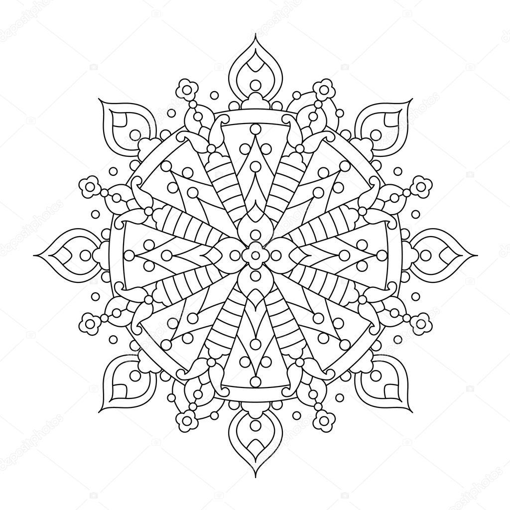 Mandalas De Copos De Nieve Para Colorear Mandala O Copo De Nieve