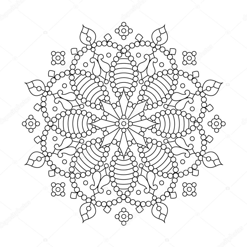 Drawings: snowflake mandala coloring pages | Mandala or ...