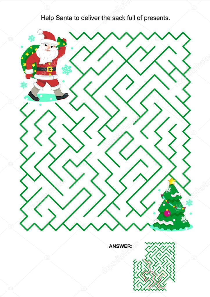 Maze game for kids - Santa deliver the presents