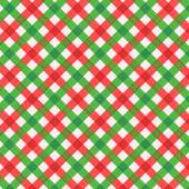 Photo Christmas red and green gingham fabric, seamless pattern included