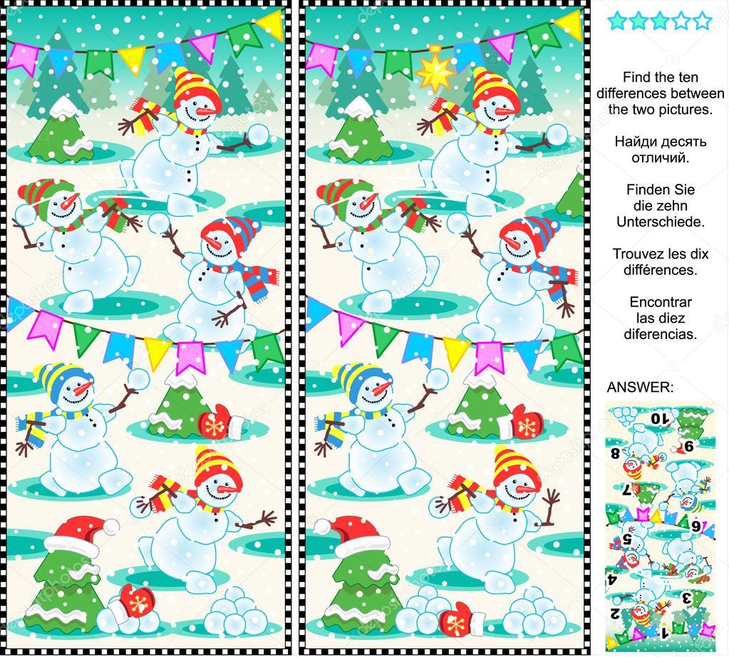 Картинки со снеговиками головоломки