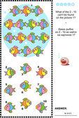 Photo Colorful fish visual logic puzzle