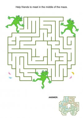 Maze game for kids - frogs