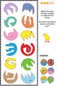 Math puzzle - Ordne die Formen zu Kreisen