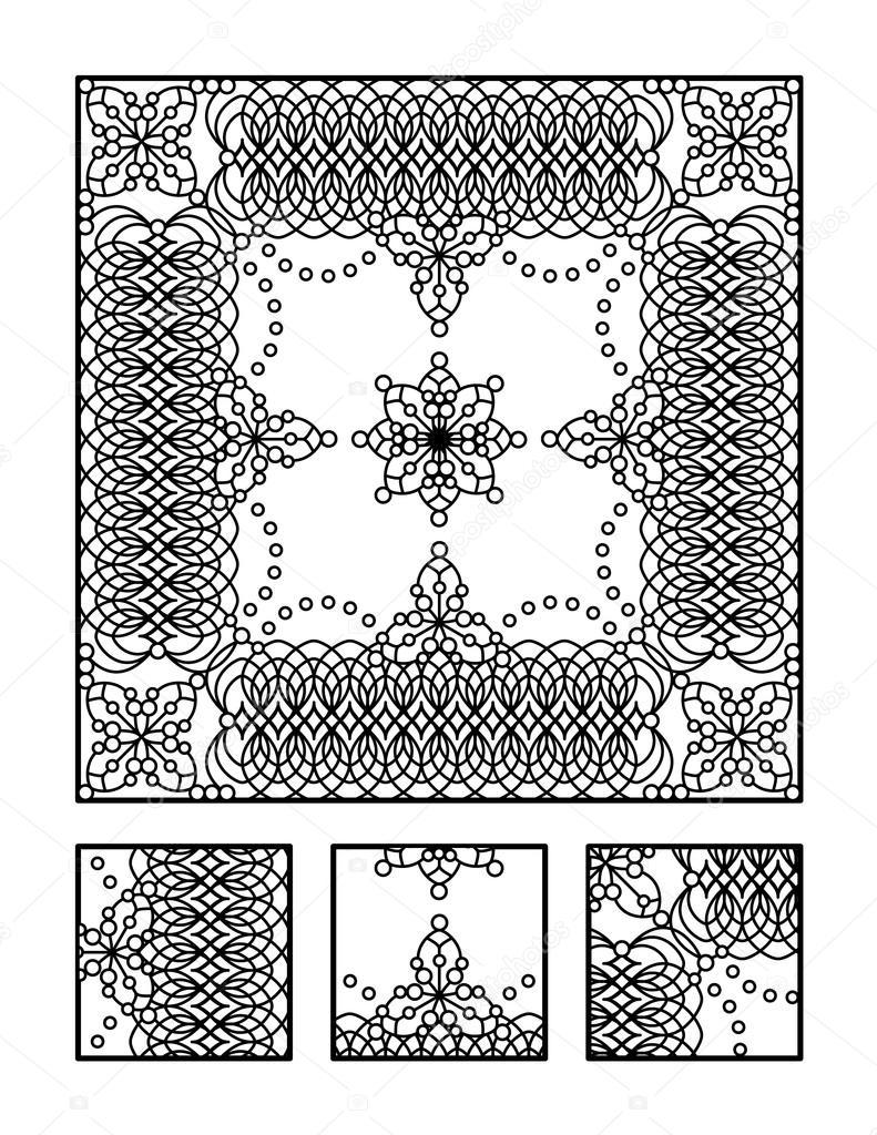 Coloriage Et Puzzle Visuel Pour Les Adultes Image Vectorielle