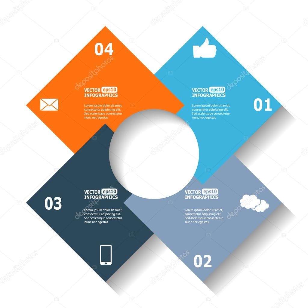 Modern circle infographics vetor de stock lamica 95590492 modern circle infographics for e business diagrams charts web sites mobile applications banners corporate brochures book covers layouts ccuart Image collections