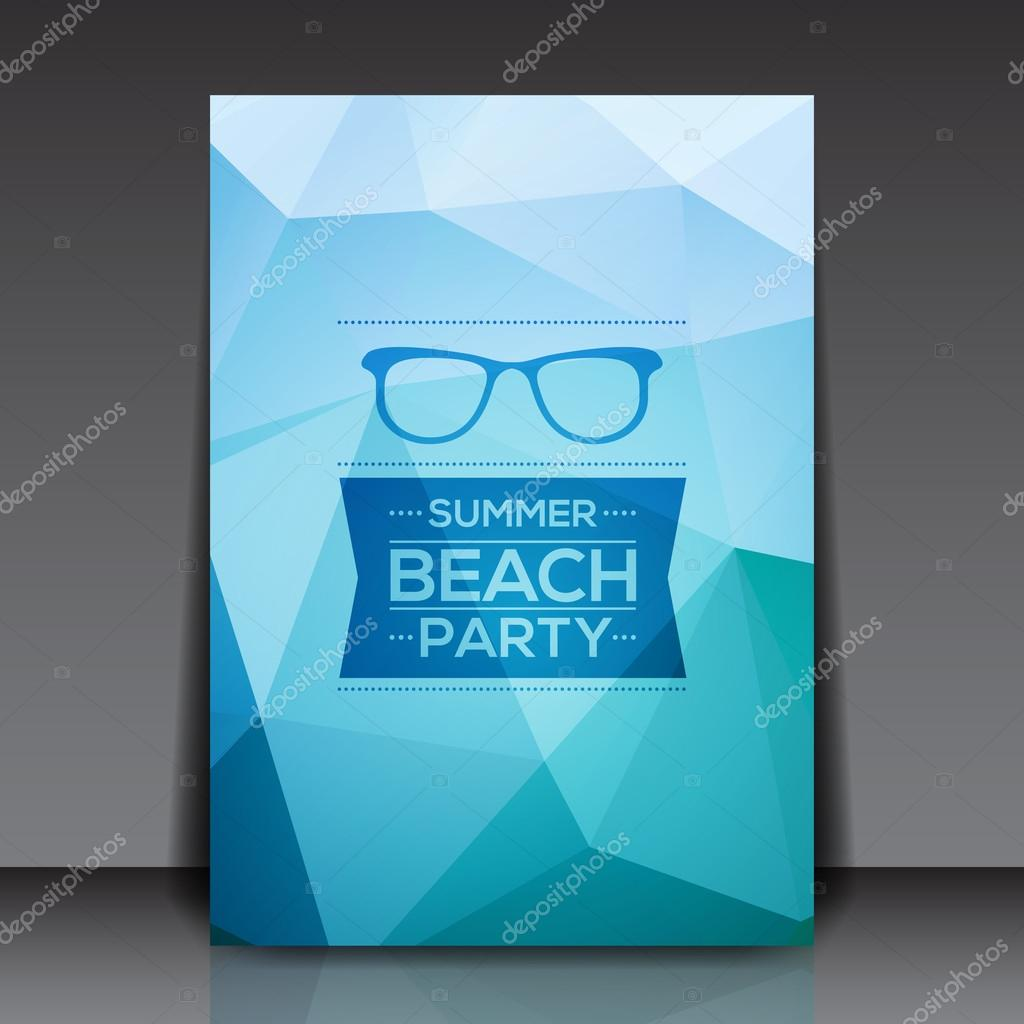 abstract summer party flyer template stock vector hunthomas