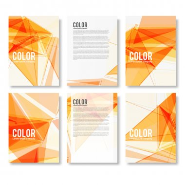 Set of Colorful Modern Abstract Flyers