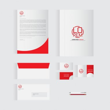 Red Stationery Template Design for Your Business