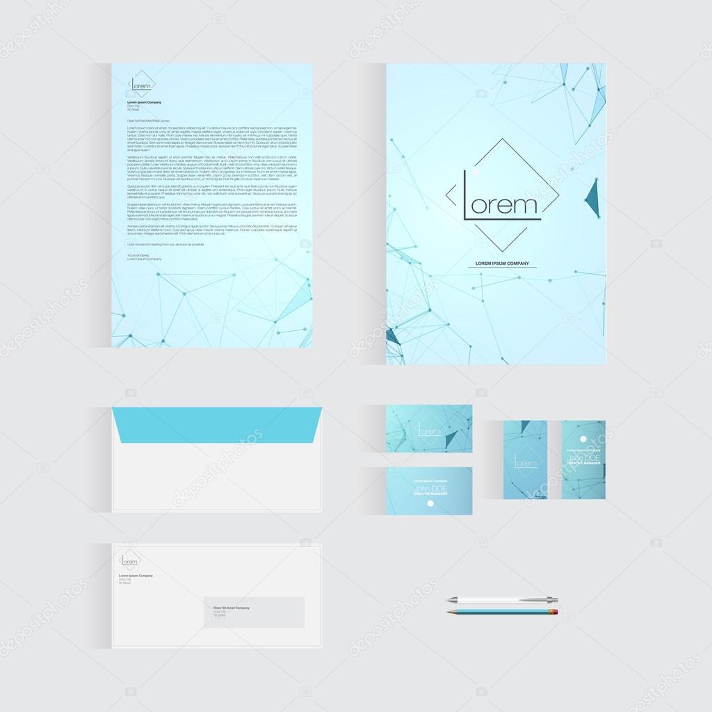ビジネスの水色の便箋テンプレート デザイン ストックベクター